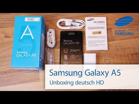 Samsung Galaxy A5 Unboxing Lieferumfang und erster Eindruck deutsch HD