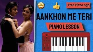 Aankhon me teri - Free Piano Lesson (Pravin Jadhav)