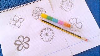 ♡Уроки рисования♡ Как быстро нарисовать цветы для открыток♡ Пошаговая инструкция♡ DIY