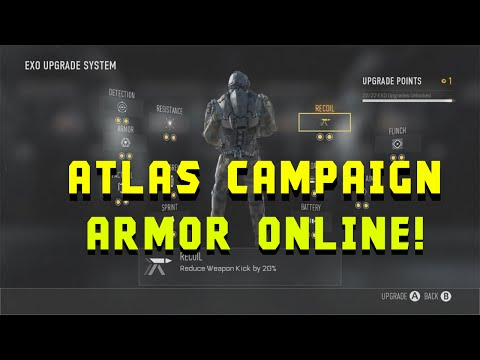 Call of Duty Advanced Warfare: HOW TO UNLOCK CAMPAIGN ARMOR ONLINE! - (COD:AW)