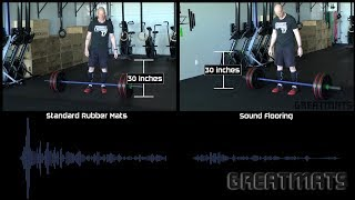 Weightlifting Noise Reduction Flooring vs. Stall Mats Sound Test
