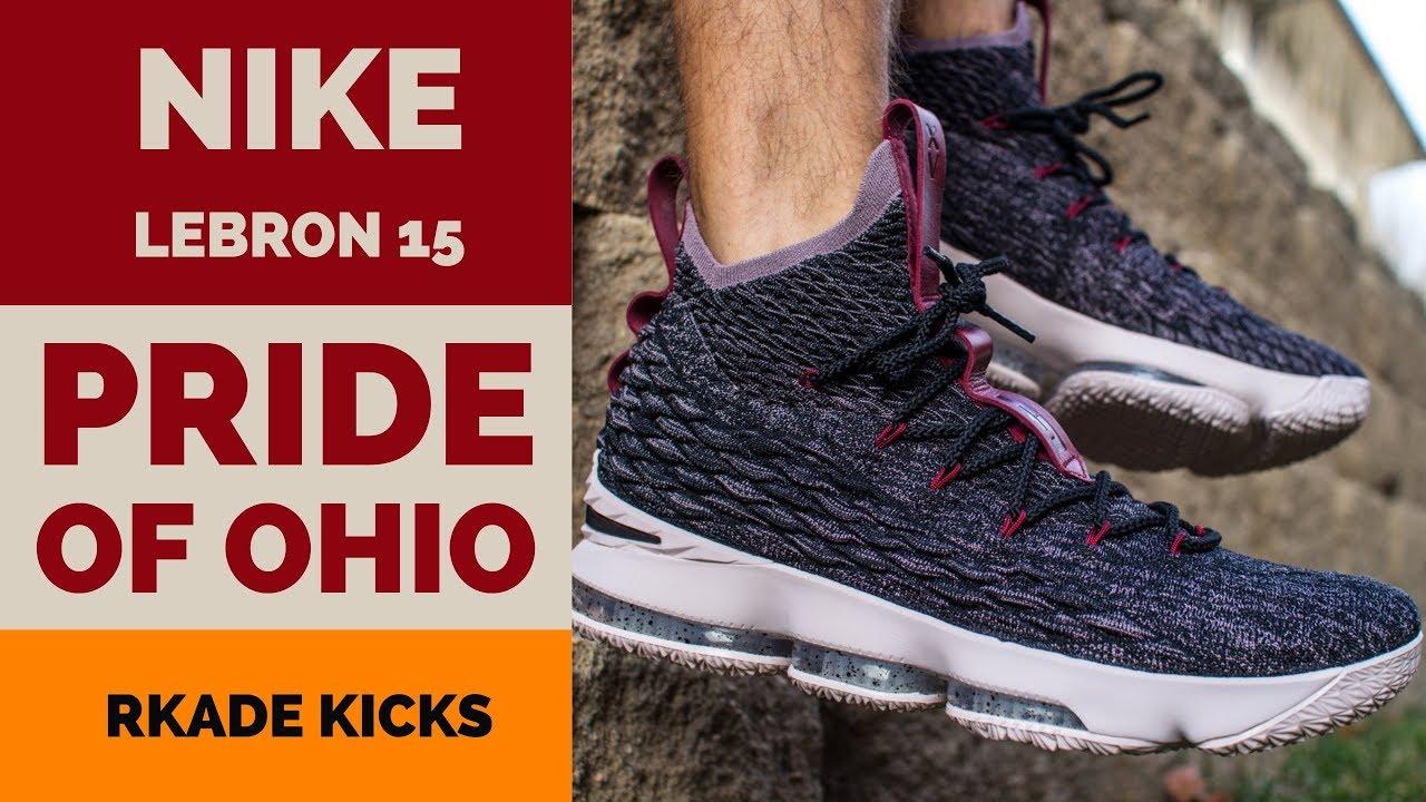 eea8914b85ed Nike LeBron 15 Pride of Ohio W  On Foot - YouTube