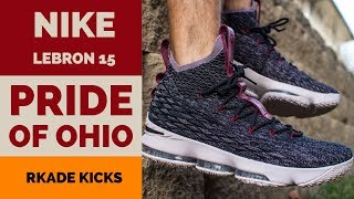 Nike LeBron 15 Pride of Ohio W/ On Foot