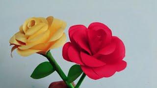 Bunga Mawar Dari kertas- Cara Membuat Bunga Mawar Dari Kertas Origami - Ide Origami