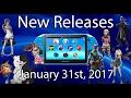 PlayStation Vita New Releases January 31st 2017 |PSVITA|