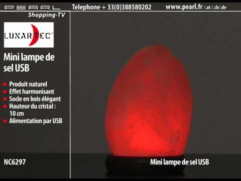Mini lampe de sel usb youtube - Lampe de sel danger ...