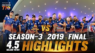Final I Maratha Arabians vs Deccan Gladiators I Match 29 I Aldar Properties Abu Dhabi T10 2019