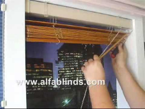 How To Take Down 2 Wood Polywod Faux Blinds Wmv Youtube
