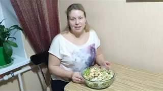 Салат с мидиями и пекинской капустой!Сочный и легкий!