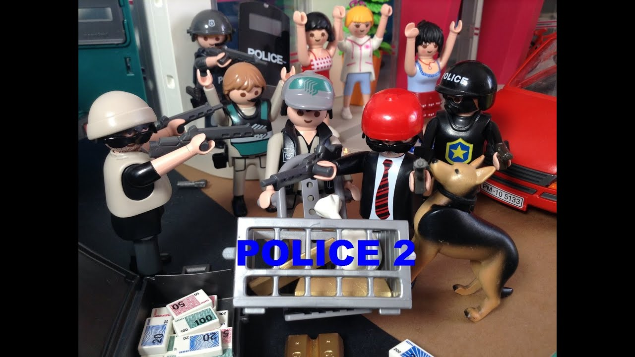 Magasin La Maison Playmobil Polizei Police Film Stop Motion - Youtube