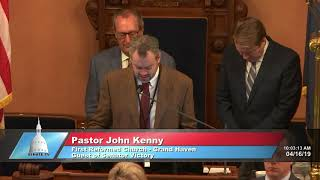 Sen. Victory welcomes Pastor Kenny to the Michigan Senate