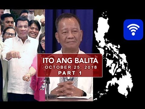 UNTV: Ito Ang Balita (October 25, 2018) PART  1