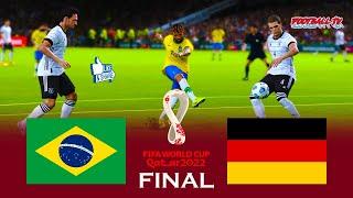 Brazil vs Germany Final FIFA World Cup 2022 Full Match All Goals eFootball PES 2021