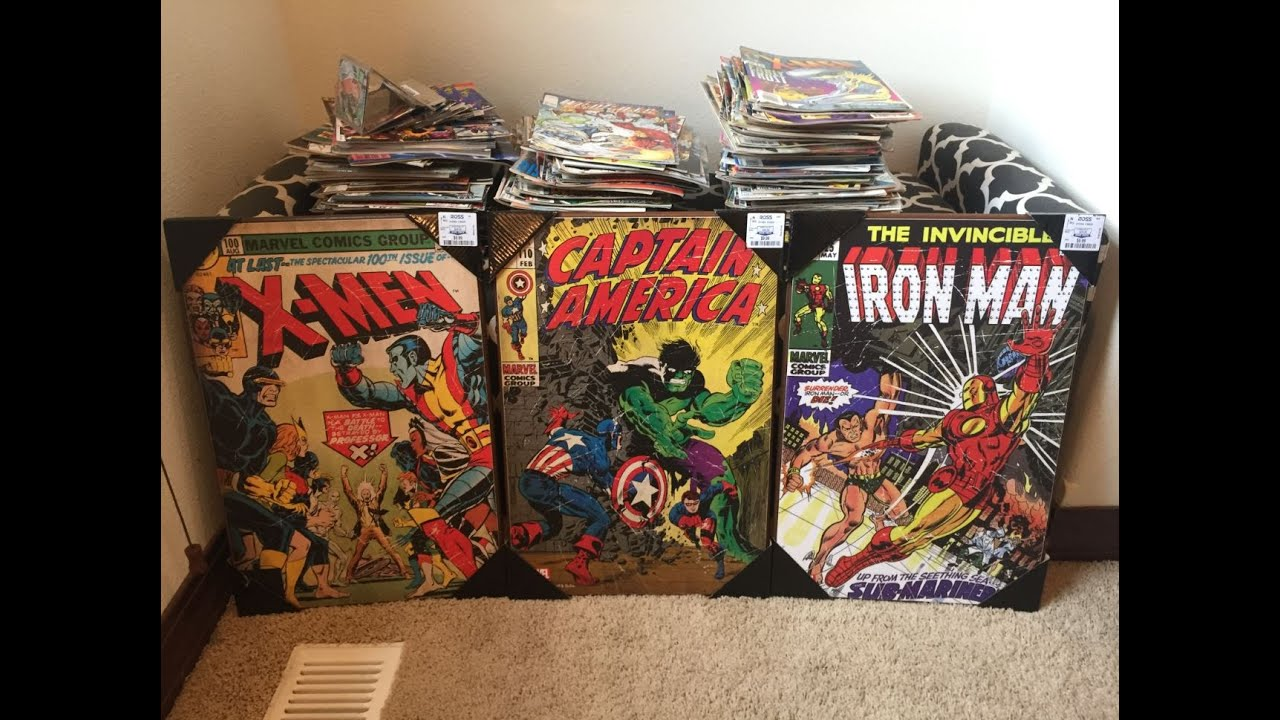 Marvel Comics Wall Art - YouTube