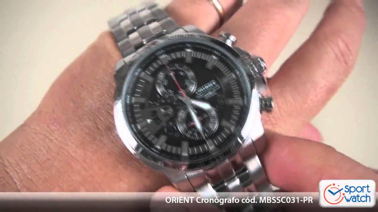 5a552c8677a ORIENT Cronógrafo MBSSC031-PR - YouTube