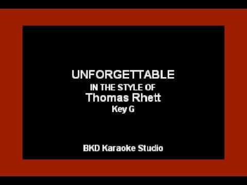 Unforgettable (In the Style of Thomas Rhett) (Karaoke with Lyrics)