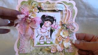 Shabby Chic Magnolia Tilda Shaped Easel Cards For Fun!!!
