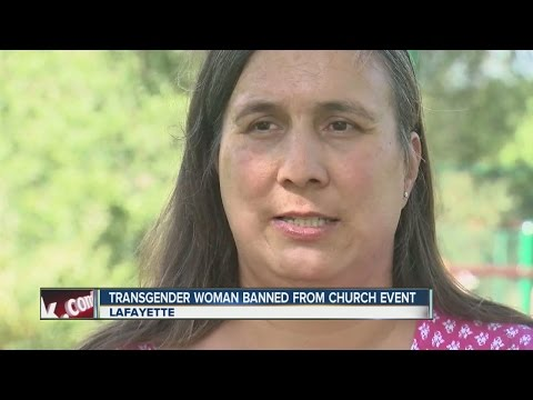 Transgender woman banned from church event