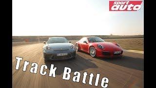 Track Battle Porsche 911 GT3 Touring vs. 911 Carrera T | Monza & Modena | sport auto