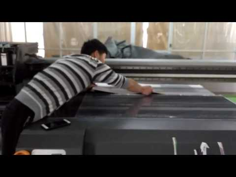 How lenticular printings are directly printed by UV flatbed printer