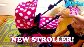 New i'coo Doll Stroller from Costco! With Baby Born Emma!💖 - Aloha Baby Alive Unpacking & Review!