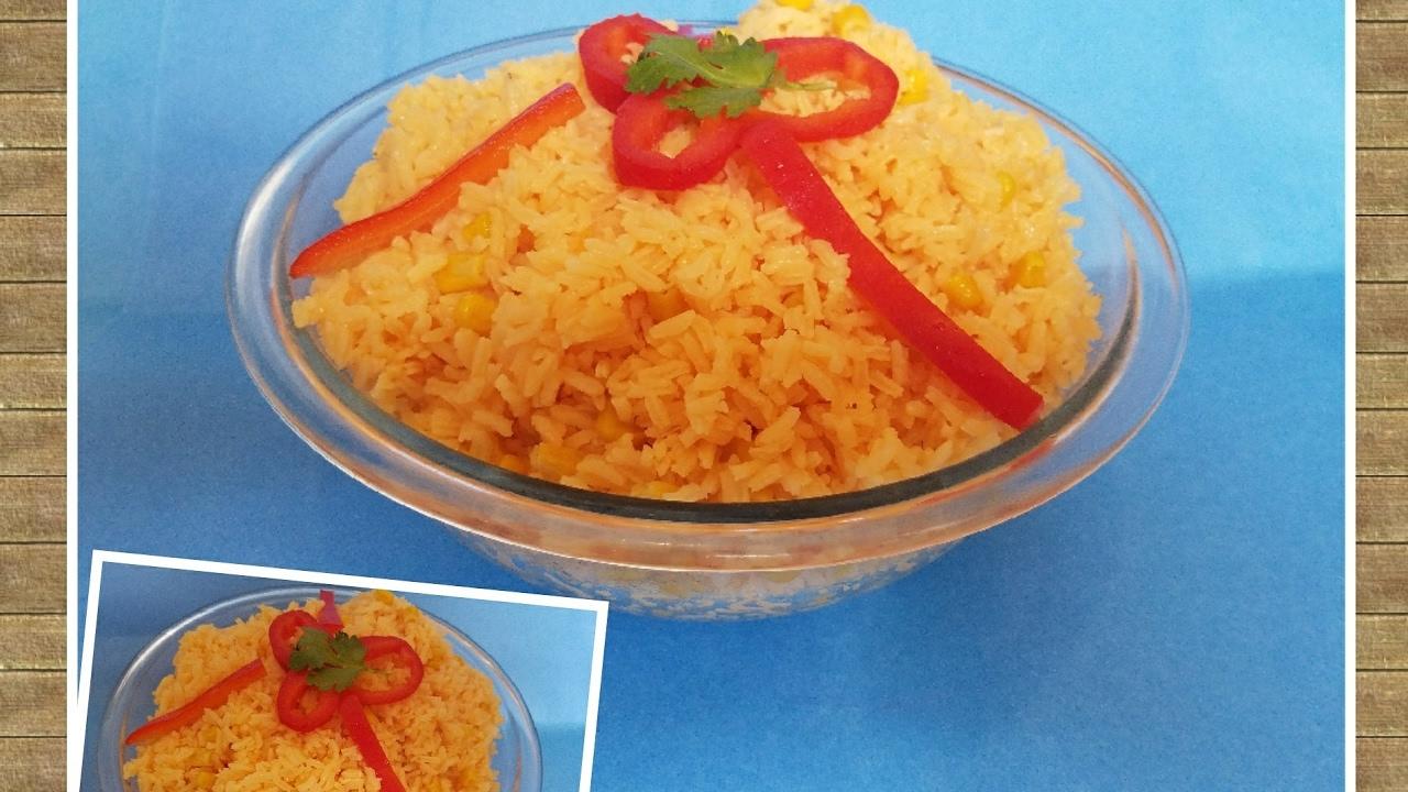Como Hacer Un Arroz Amarillo Con Maiz Super Facil Yellow Rice With Corn