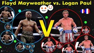 Floyd Mayweather vs. Logan Paul in Agar.io | Boxing Full Fight | Agario (HIGHLIGHTS)