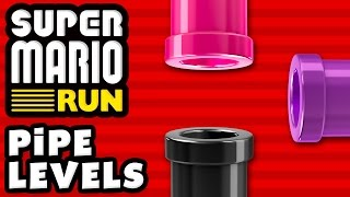 Super Mario Run - ALL PIPE LEVELS! Pink, Purple, and Black Pipes!