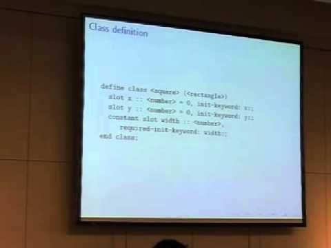 22C3: Writing better code (in Dylan)