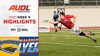 Pittsburgh Thunderbirds at Raleigh Flyers   Week 9   Game Highlights
