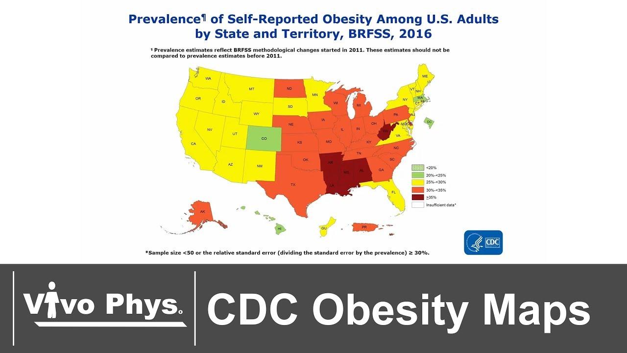 Obesity Prevalence Maps Usa 1985 2016 No Voice Youtube