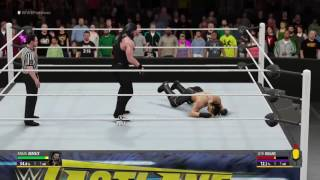 WWE 2K16 (FIRST MATCH) //NO COMMENTARY