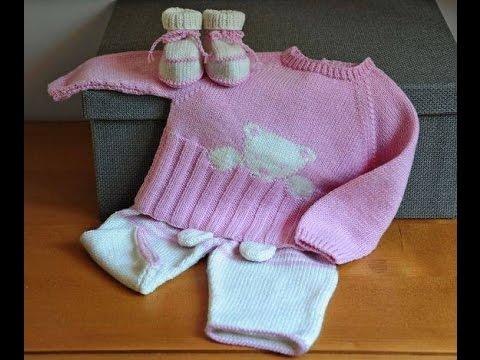 02fbfe3eb Conjunto de bebe tejido a crochet - ropa para bebe en ganchillo ...