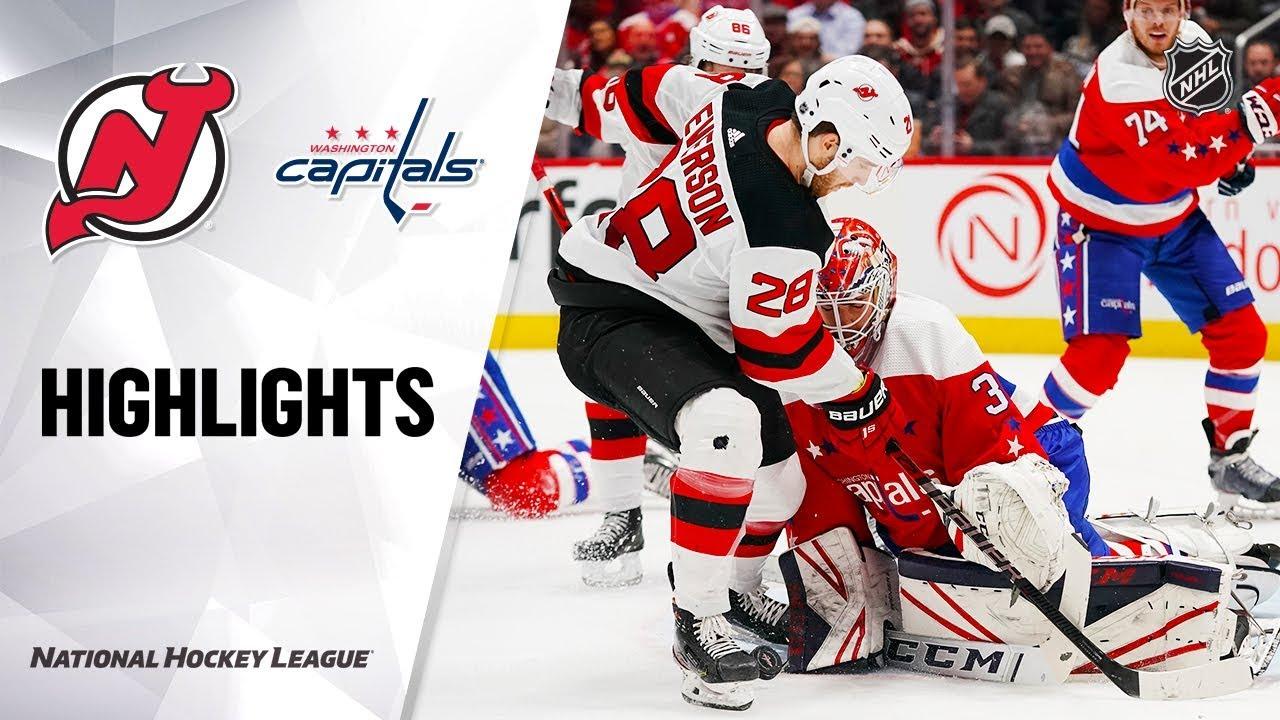 NHL Highlights | Devils @ Capitals 1/16/20