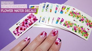 Review: Floral Water Decals Beautybigbang