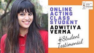 Online Acting Course || Student Testimonial || Adwitiya Verma