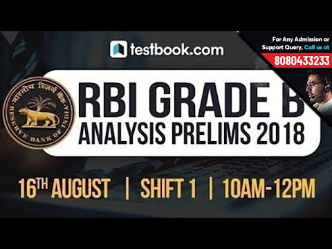 RBI Grade B  Exam Analysis | Questions Asked in RBI Grade B Prelims Shift 1 - 2018 RBI Paper