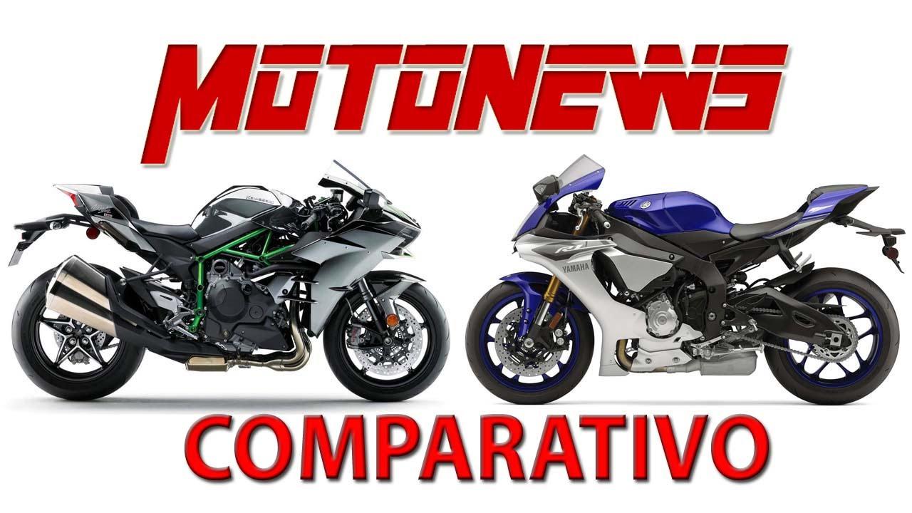 Yamaha Yzf R1 Vs Kawasaki Ninja H2 Compartivo Motorização