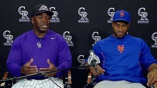 NYM@COL: Eric Young and Eric Young Jr. hold presser