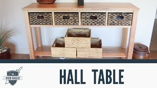 057 - Tassie Oak Hall table (for mum)