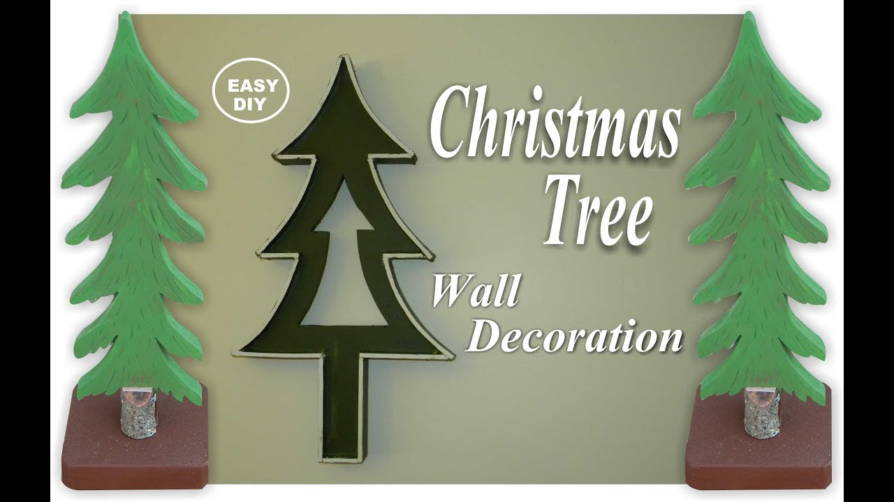 How to make an easy diy christmas tree wall decoration youtube