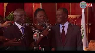 LES MEILLEURS ELEVES DE CÔTE D'IVOIRE AU PALAIS PRESIDENTIEL