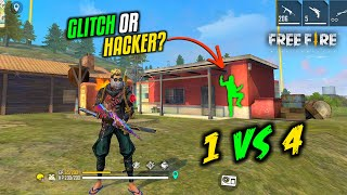 Solo vs Squad Enemy use Hack or Glitch? Op Gameplay - Garena Free Fire