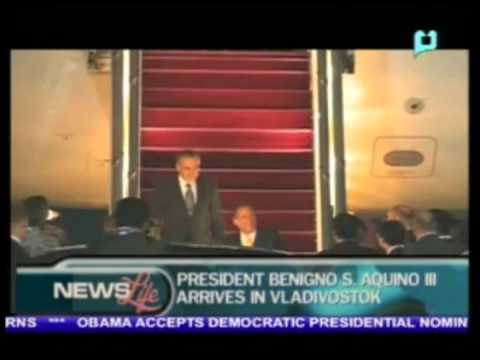 President Benigno S. Aquino III, arrives in Vladivostok