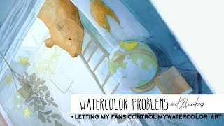 Watercolor Art Controlled By Fans - What Happens?