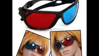 Red Blue Anaglyph Framed 3D Vision Glasses FROM CHINA