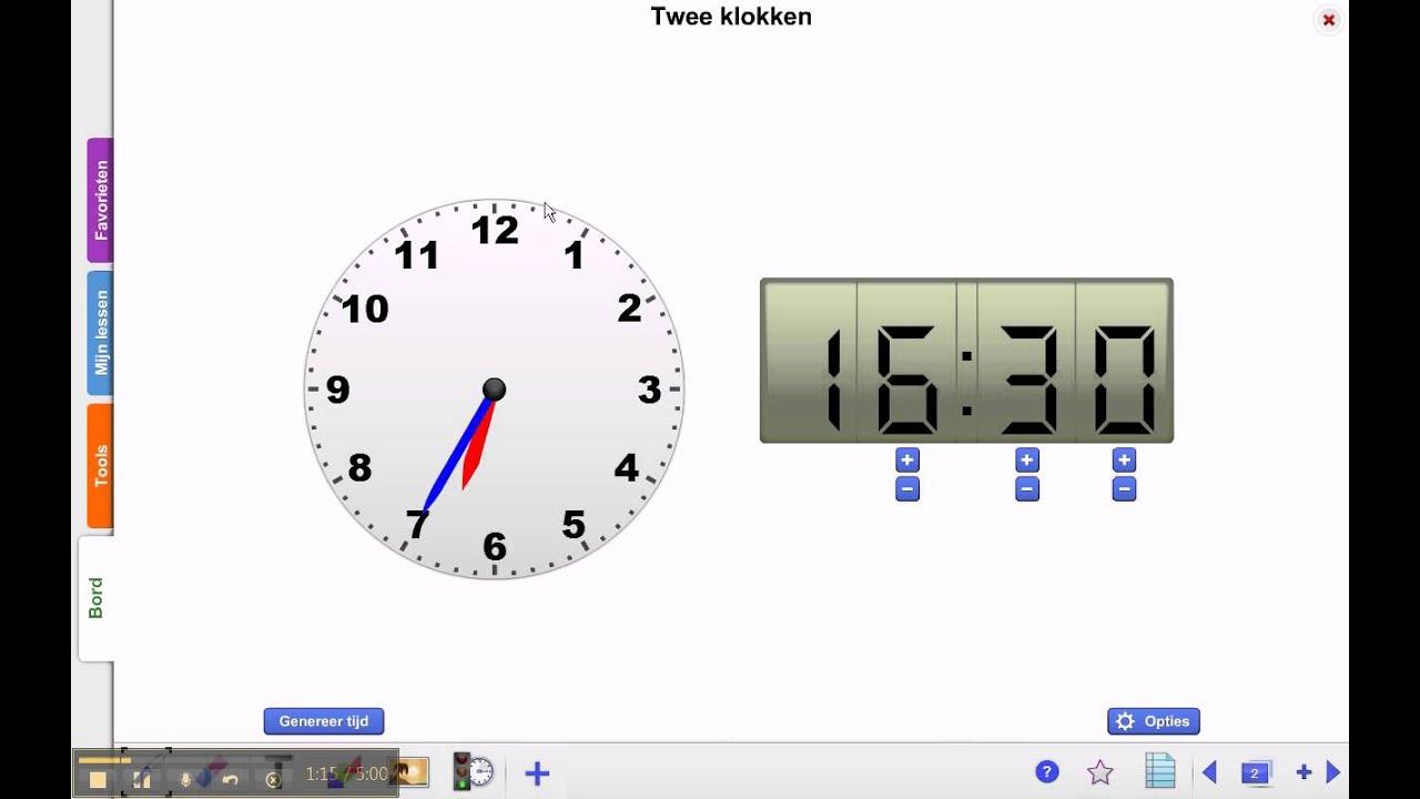 Top groep 5 rekenen blok 2 les 1 (digitale klokken analoog tekenen  FI13