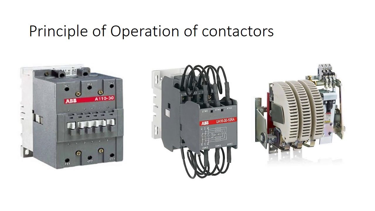 Contactor - Principle of operation on