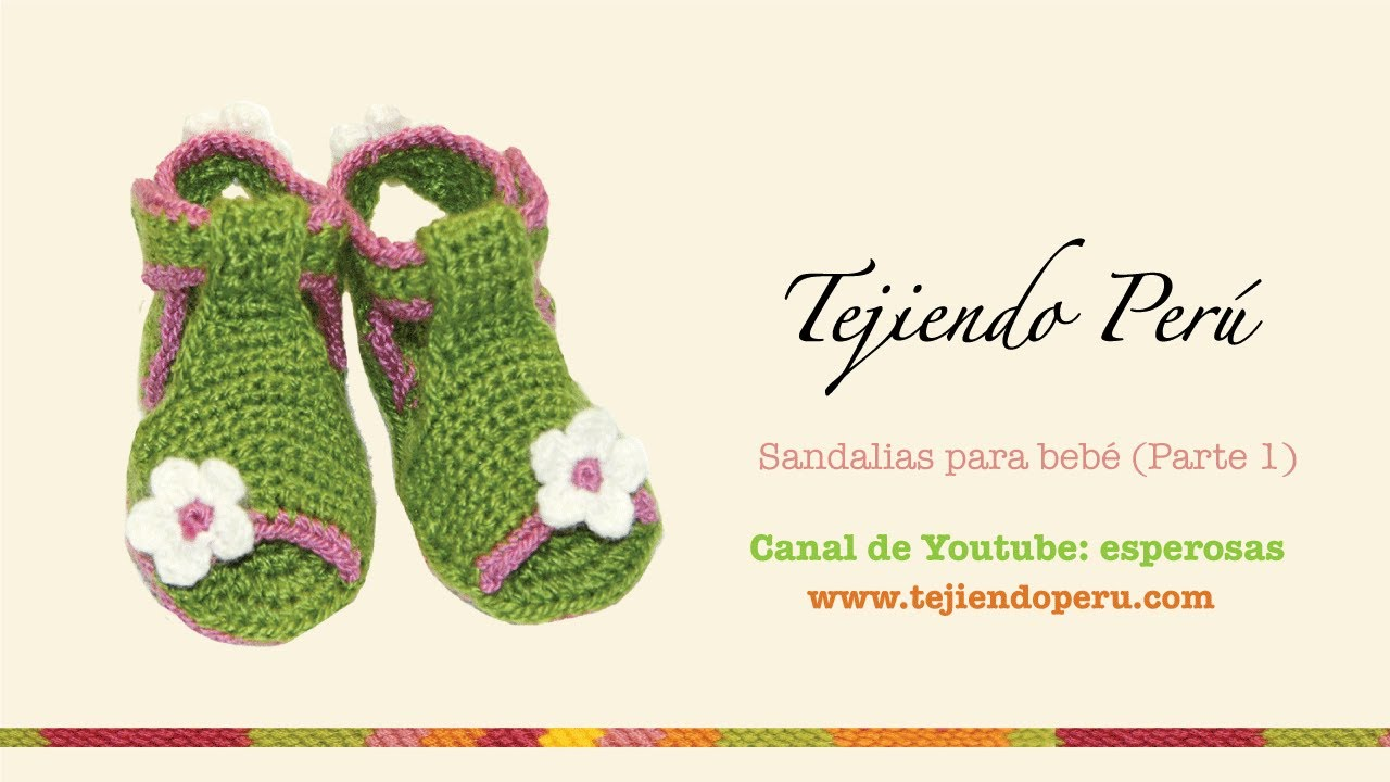 Sandalias para bebe tejidas a crochet (Parte 1: la suela) - YouTube