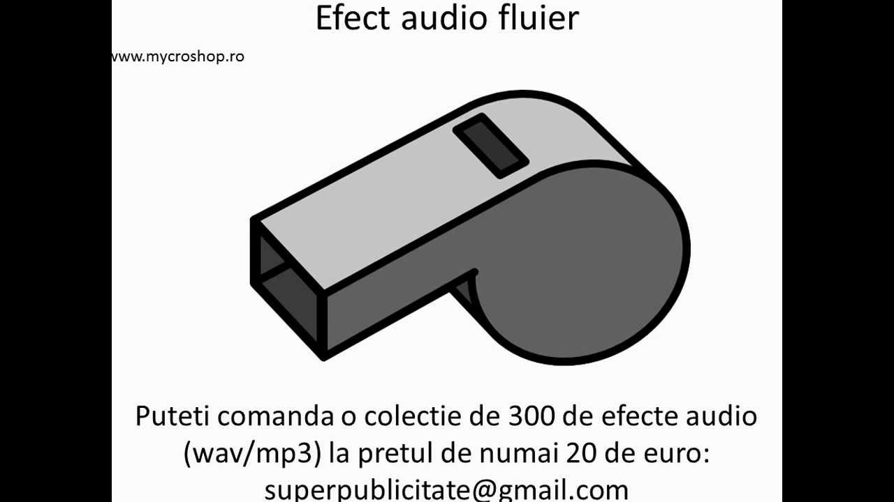 Efect audio fluier  Whistle sound effects